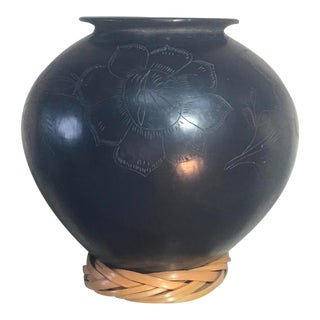 Vintage Signed and Dated Raku Studio Pottery by Reyno Falos Lopez For Sale