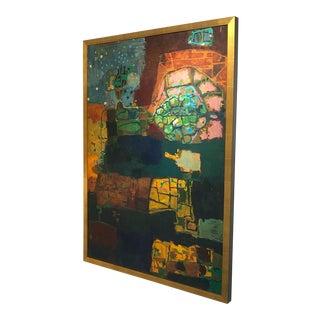 "Vintage ""Subterranean"" Oil Painting For Sale"