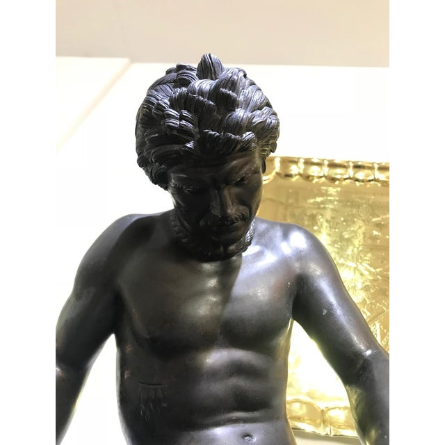 """19th Century """"The Dying Gaul"""" Bronze Statue Signed M Amadoi N 'Napoli' For Sale - Image 10 of 13"""