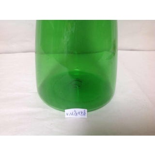 Vintage Mid 20th Century Hand Blown Glass Decanter in Green Preview