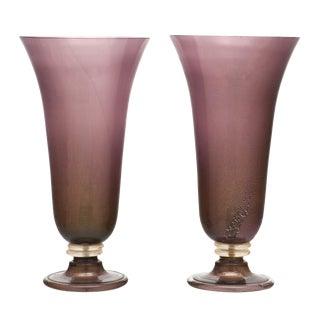 Purple Murano Glass Urn Lamps For Sale