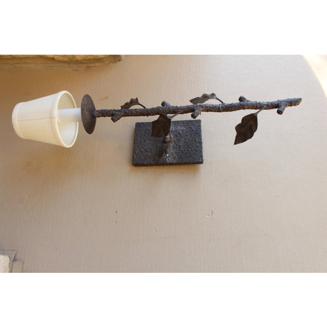 Tree Branch Single Light Wall Fixture with Shade - Image 3 of 3