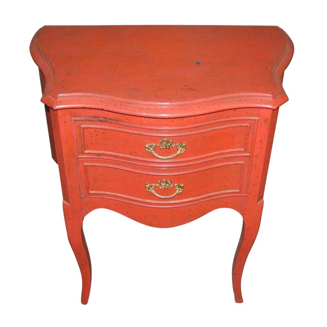 French Country Red Nightstand For Sale