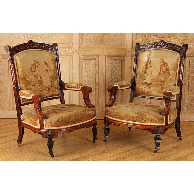 Wood 19th Century Rosewood Chairs - A Pair For Sale - Image 7 of 7