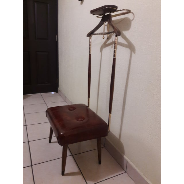 Mid-Century Modern Mid-Century Coat Stand With Stool For Sale - Image 3 of 11