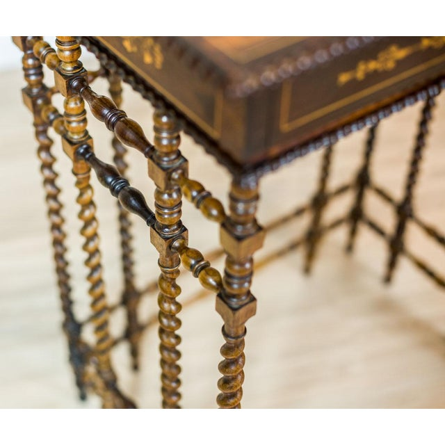 White French Intarsiated Table from the 19th Century For Sale - Image 8 of 13