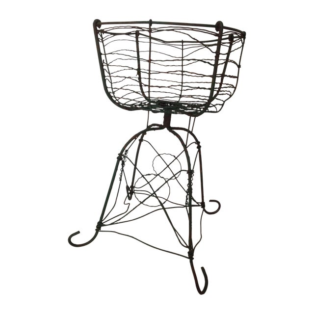 Antique Wirework Plant Stand - Image 1 of 5