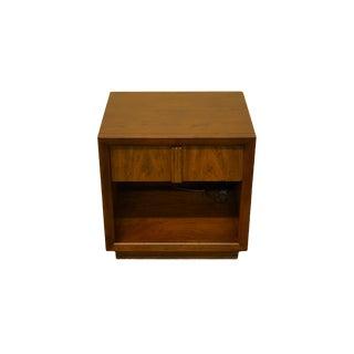 "Henredon Furniture Walnut Contemporary Modern 22"" Open Cabinet Nightstand 6-8200 For Sale"