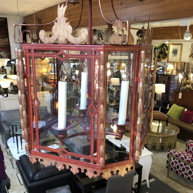 Vintage Chinoiserie Lantern Pendant For Sale In San Francisco - Image 6 of 13