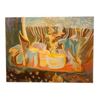 Mid Century Impressionist Abstract Oil Painting by William Watt For Sale