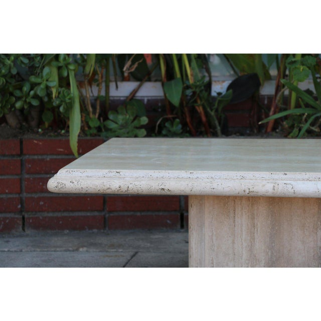 Vintage condition Travertine Coffee Table in good condition. Two piece coffee table is very sturdy.