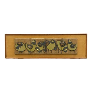 Rare Ceramic Wall Mural by Victoria Littlejohn For Sale