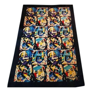 1980s Missoni Abstract Faces Rug- 5′6″ × 8′ For Sale