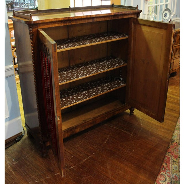Wood Mid 19th Century Vintage German Gothic Revival Cabinet For Sale - Image 7 of 9
