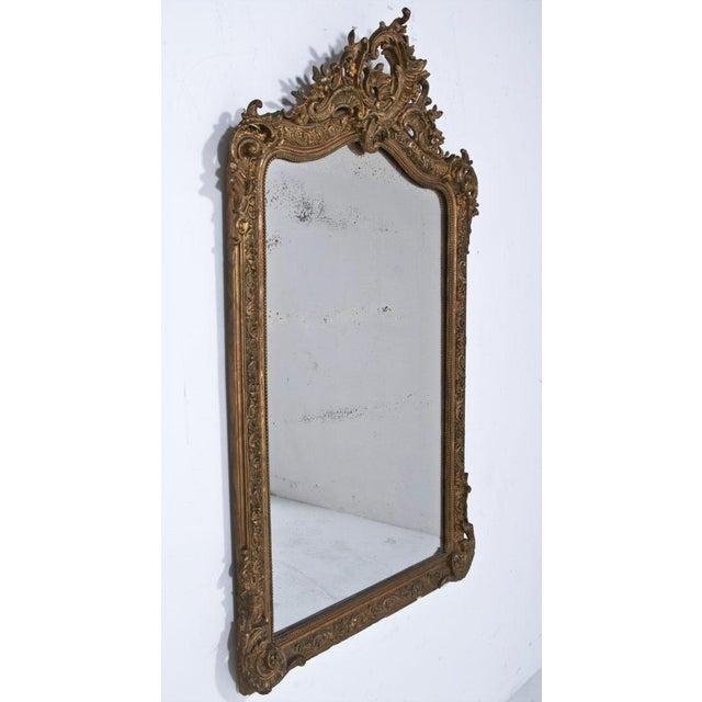 Italian 1860 Italian Gilt Wood & Gesso Mirror For Sale - Image 3 of 6