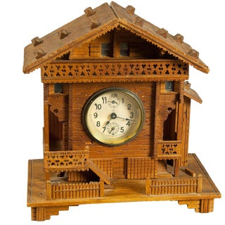 A Black Forest Clock Chalet With Musical Movement Ca. 1910 For Sale