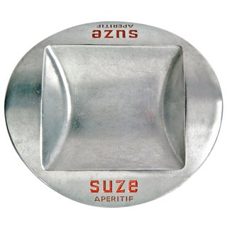 Vintage French Aluminum Suze Apertif Ashtray