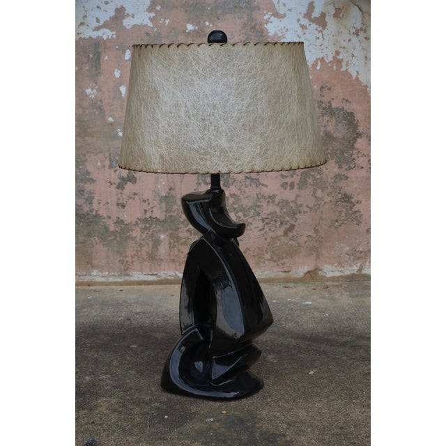 Metal 1950s Abstract Ceramic Table Lamp For Sale - Image 7 of 13