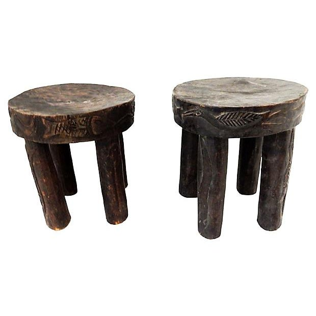Hehe Gogo Tanzania Milk Stools - A Pair For Sale - Image 5 of 7
