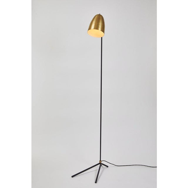 """Mid-Century Modern """"Oro"""" Brass and Metal Floor Lamp For Sale - Image 3 of 12"""