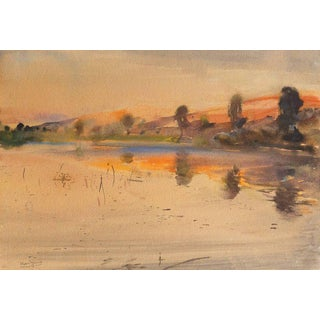 'Late Sunset' by Karl Yens, Early California Impressionist, Los Angeles County Museum of Art, Laguna Beach Art Association For Sale