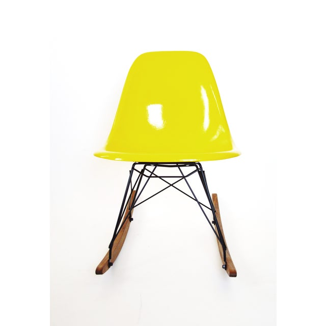 Herman Miller Yellow Fiberglass Rocking Chair For Sale In Los Angeles - Image 6 of 8