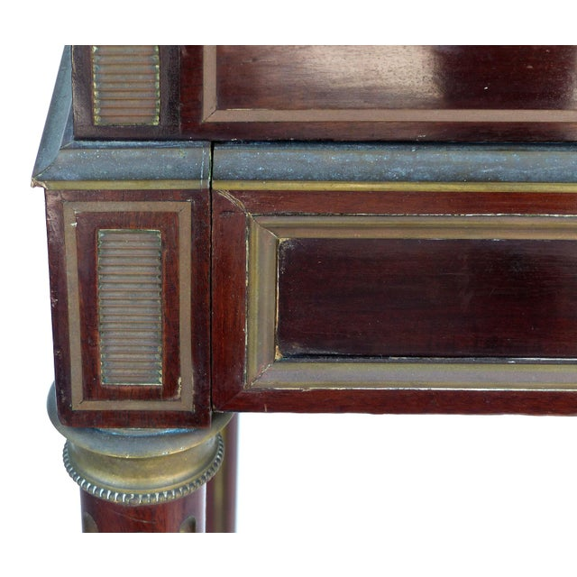 Metal 19th Century French Paul Sormani Cylinder Writing Desk in Walnut For Sale - Image 7 of 13