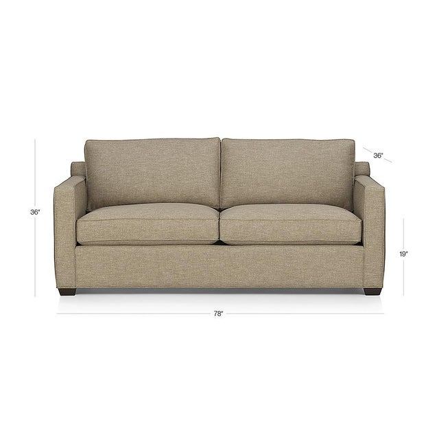 Crate & Barrel Davis Apartment Sofa - Image 5 of 5