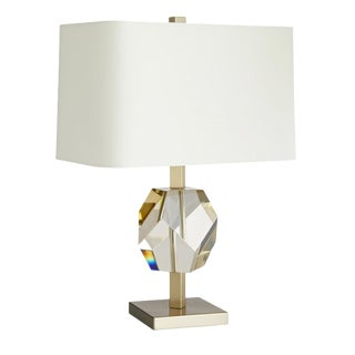 Arteriors Modern Geometric Champagne Crystal Table Lamp For Sale