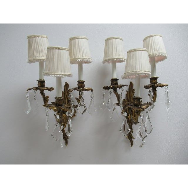 Vintage Chapman Brass French Regency Wall Sconces - a Pair For Sale - Image 12 of 12