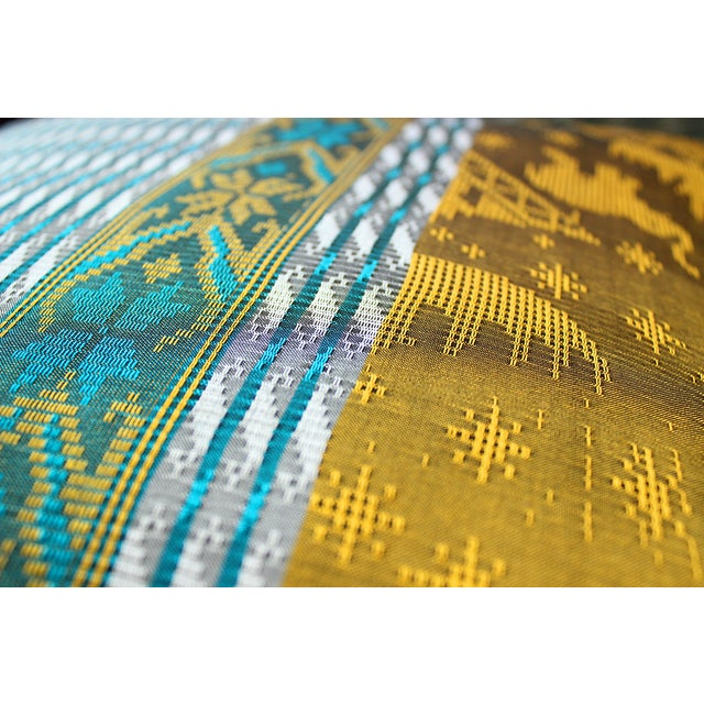 Brand New Golden Ganesh Javanese Boho Pillow - Image 5 of 7