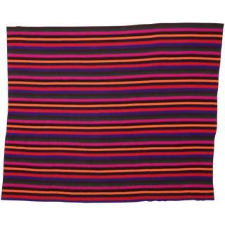 Modern Colorful Striped Vintage Turkish Kilim Rug For Sale