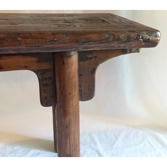 Primitive Chinese Oak Bench - Image 3 of 4