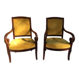 Antique Louis Philippe Armchairs - A Pair For Sale