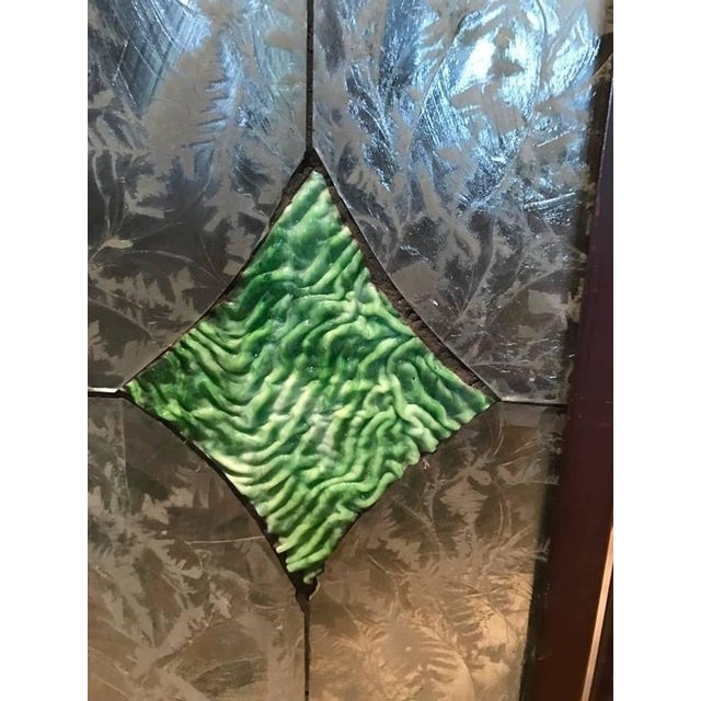 Glass Stained Glass Fire Screen For Sale - Image 7 of 9