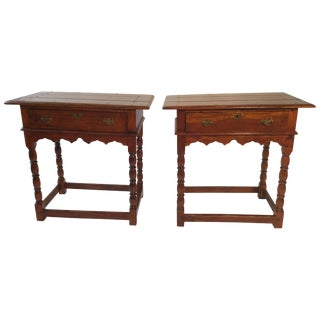 Pair of Theodore and Alexander British Colonial Side Tables For Sale