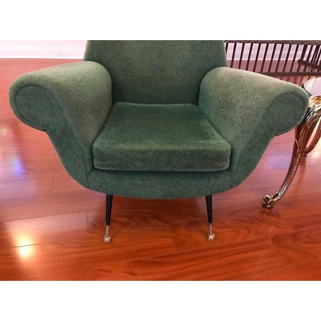 Italian Mid-Century Modern Club Chairs - A Pair For Sale - Image 4 of 6