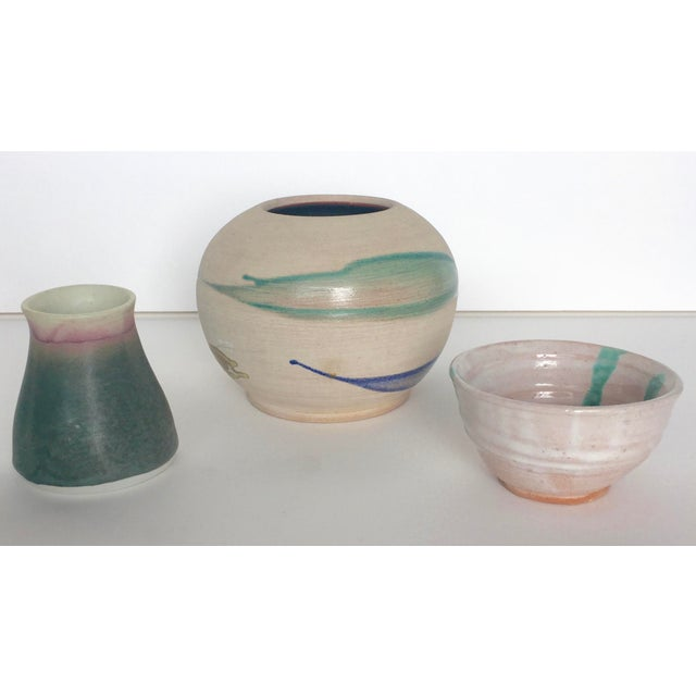 Contemporary Artistic Signed Pottery - 3 For Sale - Image 3 of 10