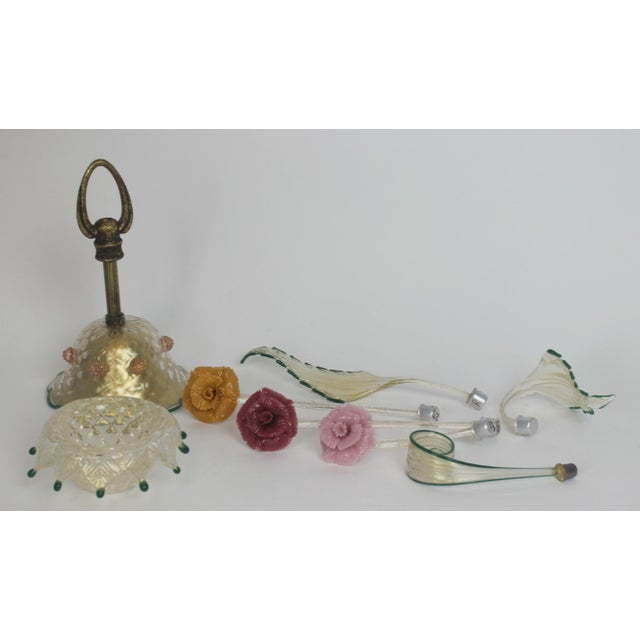 Italian Venetian Glass Chandelier For Sale - Image 11 of 11