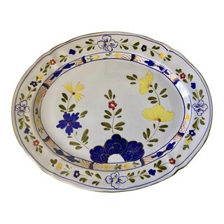 Cantagalli Large Faience Serving Platter For Sale