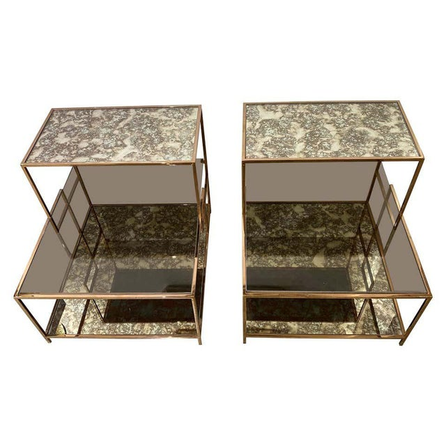 Milo Baughman Style Italian Side or Night Tables - a Pair For Sale - Image 13 of 13