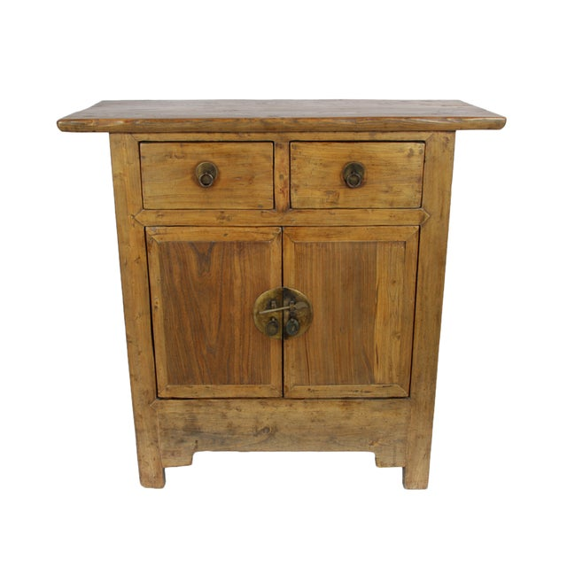 Natural Wood Hand Crafted Cabinet - Image 1 of 4