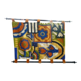 Psychedelic Mod 70's Hand Woven Flower Power Tapestry