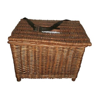 English Wicker Fish Basket For Sale