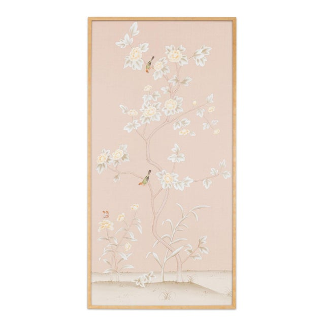 """Not Yet Made - Made To Order Jardins en Fleur """"Pavenham Court"""" Chinoiserie Hand-Painted Silk Panel For Sale - Image 5 of 5"""