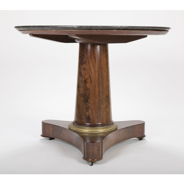 19th Century English Marble Top Center Table For Sale - Image 13 of 13