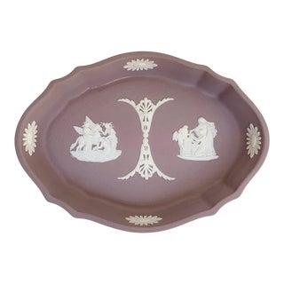 Wedgwood Lilac Jasperware Tray For Sale