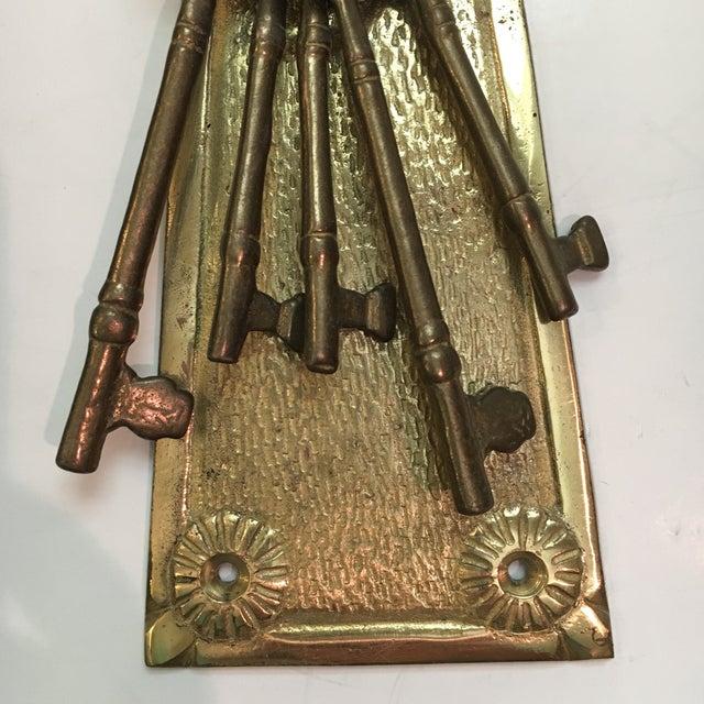 Vintage Brass Lock & Keys Door Knocker For Sale - Image 5 of 9