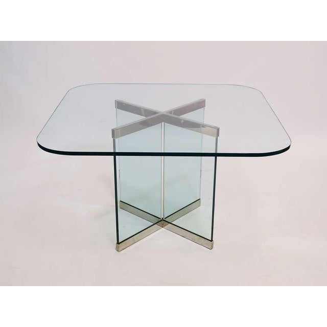 Glass & Chrome Dining Table by Leon Rosen for Pace Collection - Image 3 of 10