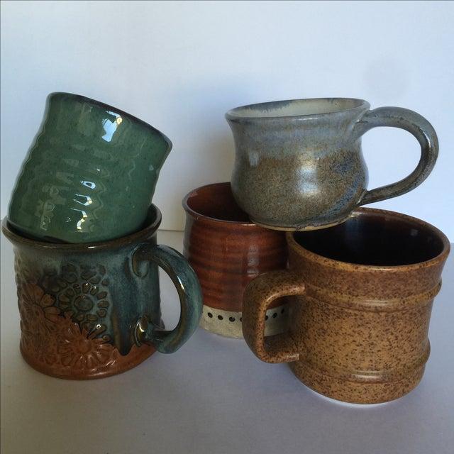 Vintage Pottery Mugs - Set of 5 - Image 11 of 11